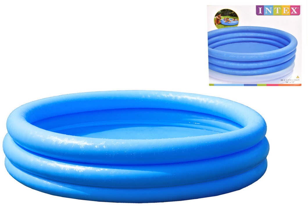 Intex TY0690 3 Ring Crystal Blue Paddling Pool 58
