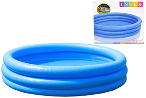 "Intex TY0692 3 Ring Crystal Blue Paddling Pool Swimming Kids Garden Play 66"" x 15"""