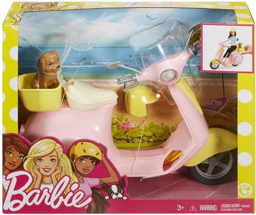 Barbie Moped Scooter with Puppy