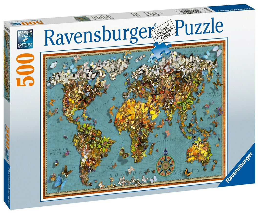 Ravensburger 15043 World of Butterflies 500pc Jigsaw Puzzle