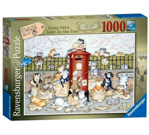 Ravensburger 1000 Piece Jigsaw 16417 Crazy Cats - Lost in The Post