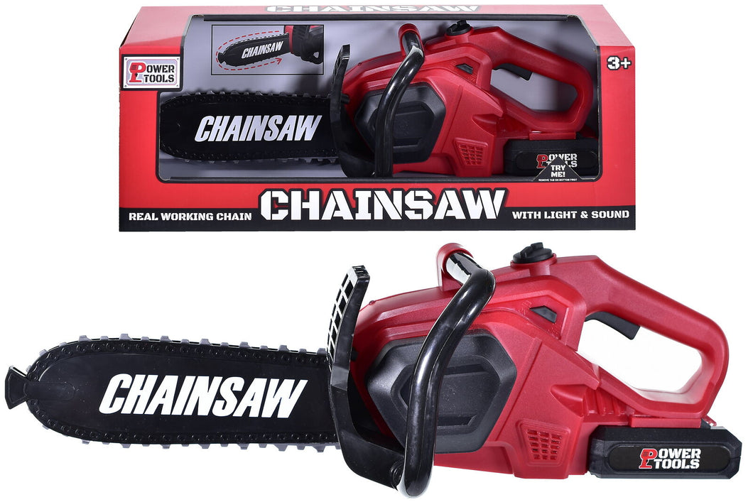 Kids Pretend Play Toy Power ToolChainsaw with Sound Electric Toy