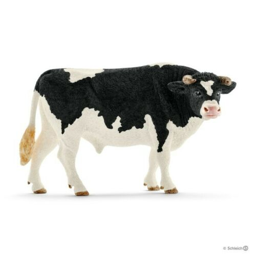 Schleich Holstein Bull with horns animal figure 13796