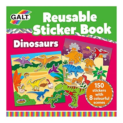 Galt Reusable Sticker Book Dinosaurs