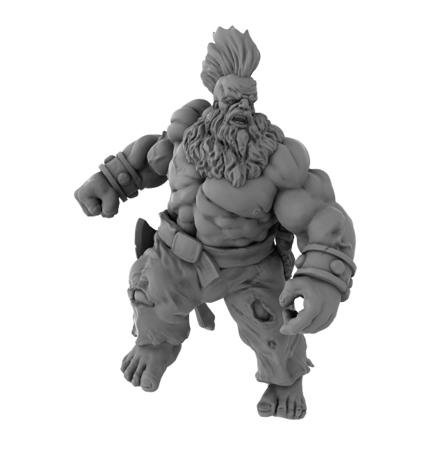 Nickey's Hatchery Dwarf Brawler 3D Printed Model