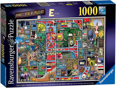 Ravensburger 1000 Piece Jigsaw Colin Thompson Awesome Alphabet E is For
