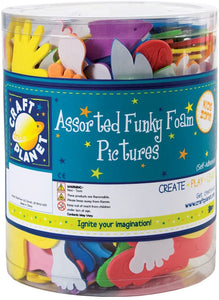 Craft Planet Funky Foam Tub (Self Adhesive) - Pictures - Assorted Colours