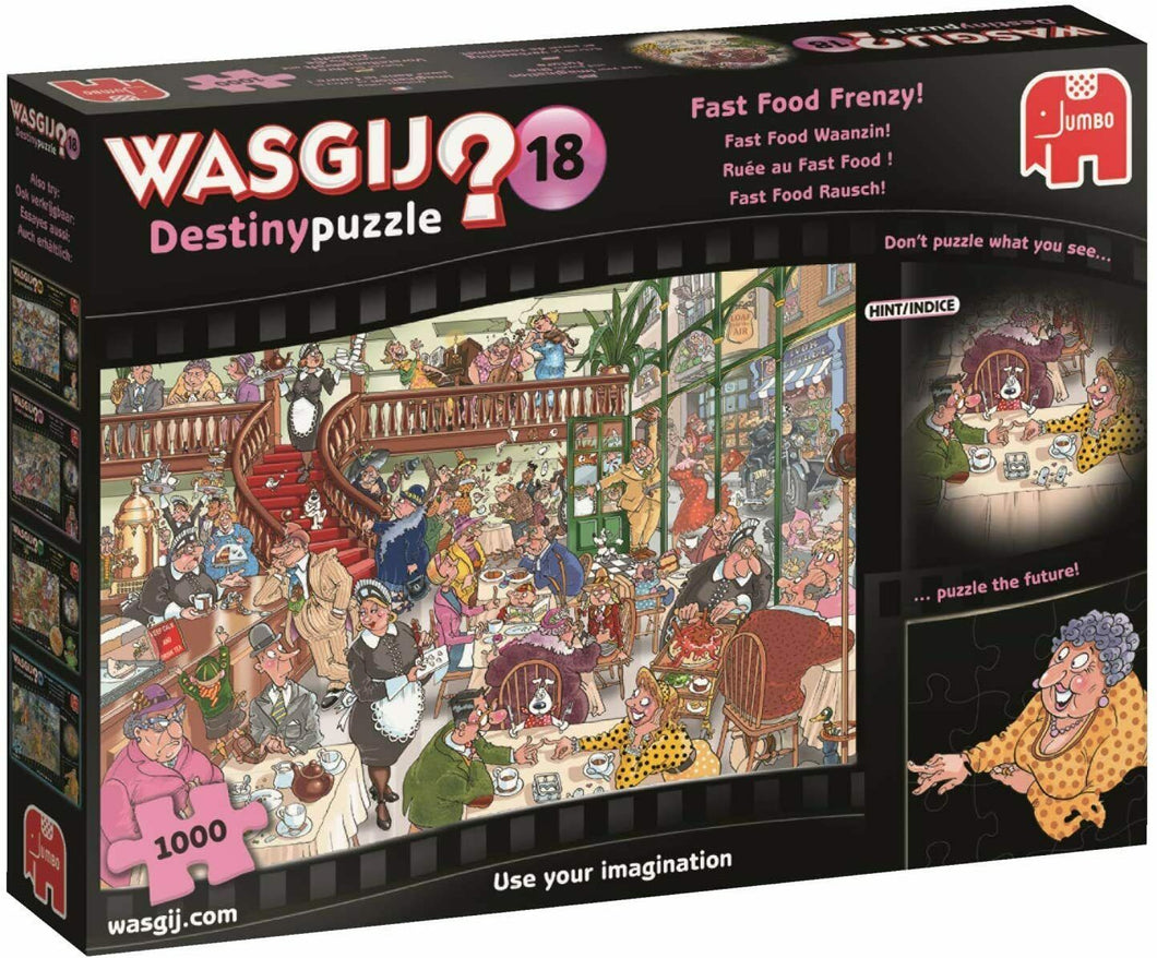 Wasgij 19157 Destiny 18 Fast Food Frenzy 1000 Piece Jigsaw