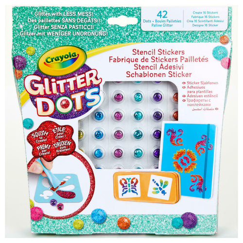 Crayola Glitter Dots Sticker Stencils Arts & Crafts For Kids
