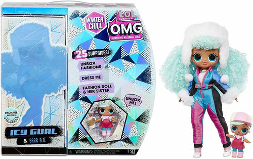 L.O.L. Surprise! O.M.G. Winter Chill Icy Gurl Fashion Doll & Brrr B.B. Doll