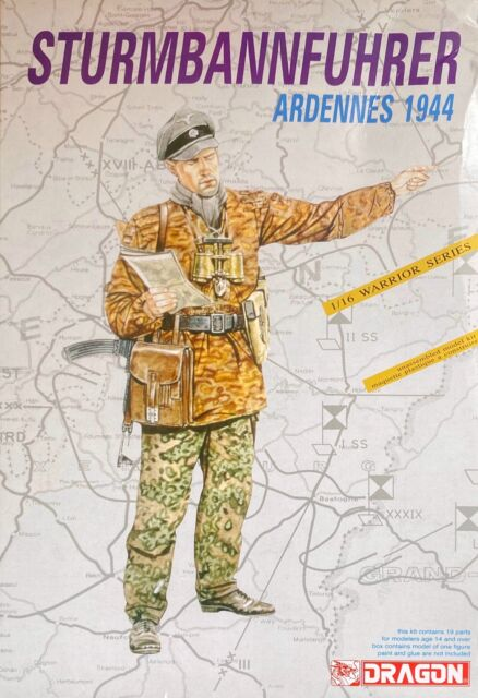 Dragon D1602 Ss-Sturmbannfuhrer (Ardennes 1944) 1:16 Plastic Model Kit