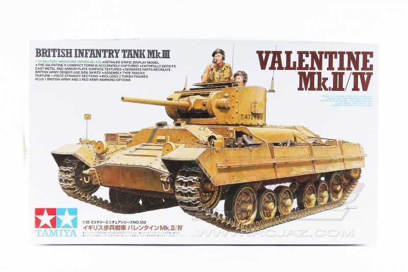 Tamiya 35352 Valentine Mk.II/IV British Infantry Tank Mk.III 1/35 Model Kit