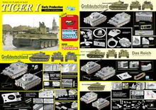 Load image into Gallery viewer, Dragon 6950 1/35 scale TIGER I Early Production Battle of Kharkow D6950