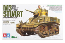 Load image into Gallery viewer, Tamiya 35360 US Light Tank M3 Stuart Late Production
