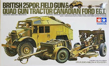 Load image into Gallery viewer, TAMIYA British 25 pounder & Quad Tractor 1:35 Military Model Kit 35044