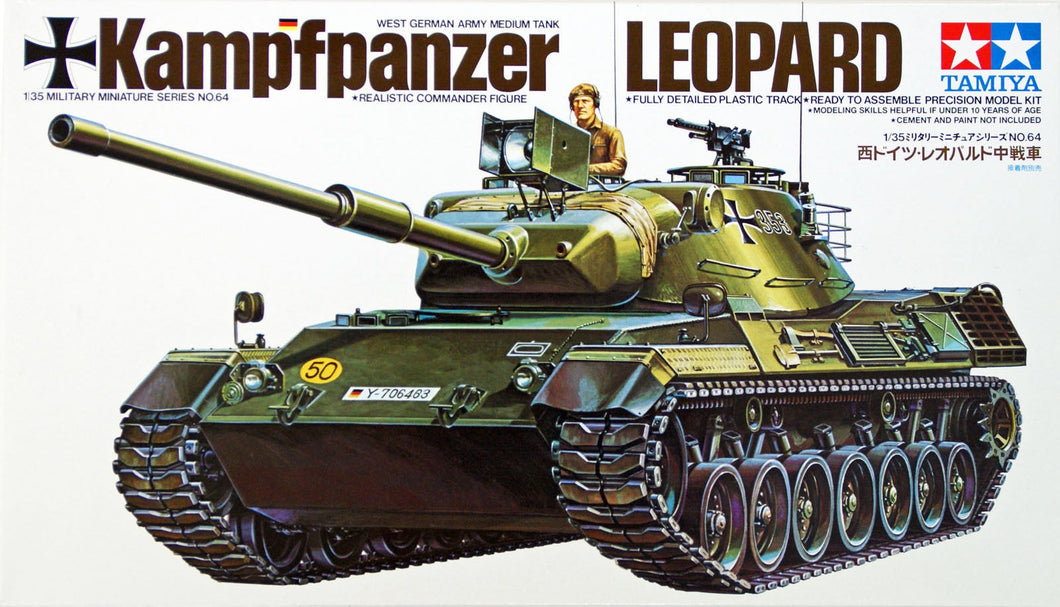 Tamiya 35064 West German Leopard Tank 1:35 Military Model Kit