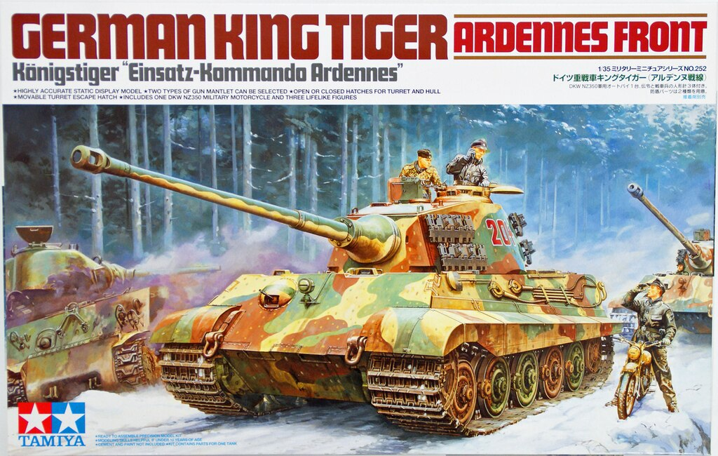TAMIYA 35252 King Tiger Tank Ardennes Front 1:35 Military Model Kit