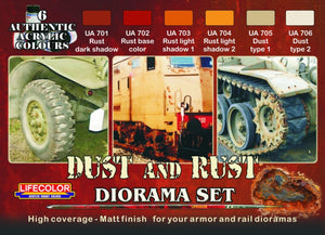 LifeColor Dust And Rust Set (22ml x 6)