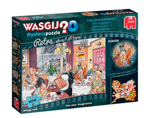 Wasgij 19177 Mystery 4 Live Entertainment! 1000 Piece Jigsaw