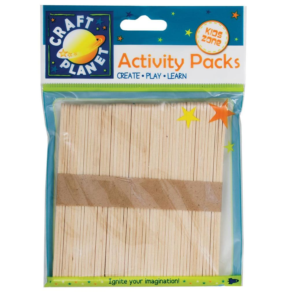 Craft Planet Lollipop Sticks (approx. 50pcs) - Natural