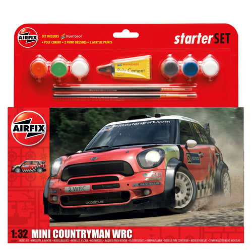 Airfix A55304 Mini Countryman WRC Starter Set 1/32 Scale