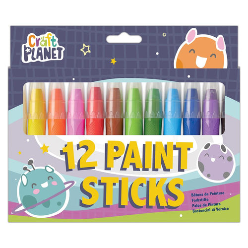 Craft Planet Paint Sticks (12pcs) - Bright