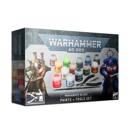 Games Workshop Warhammer 40,000 Paints + Tools Set