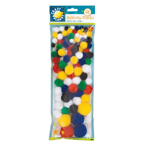 Craft Planet Pompoms (100pk) - Assorted Colours
