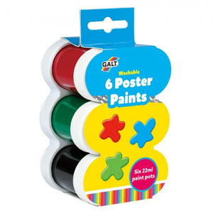 Galt 6 Poster Paints Washable