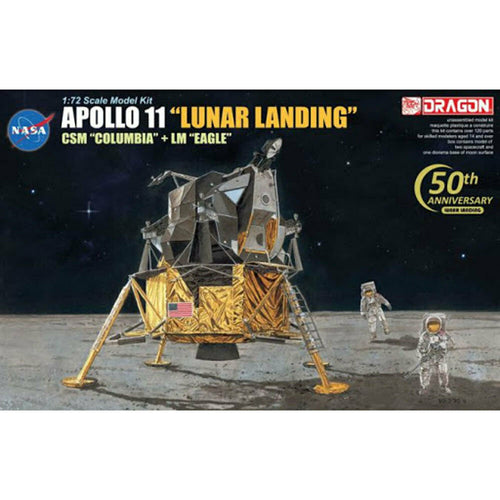 DRAGON 11002 Apollo 11 Lunar Landing Model Kit 1:72