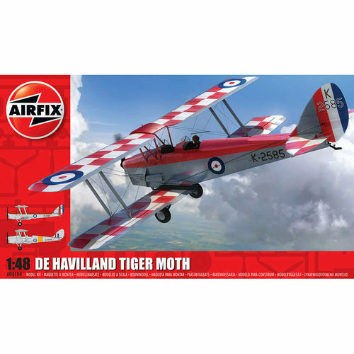 Airfix de Havilland D.H.82a Tiger Moth 1:48 Scale Model Aircraft A04104