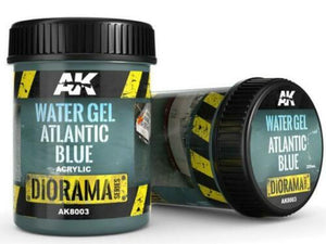 AK Interactive 250ml 8003 Acrylic Water Gel - Atlantic Blue