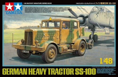 Tamiya 32593 1/48 Scale German Heavy Tractor Model Set