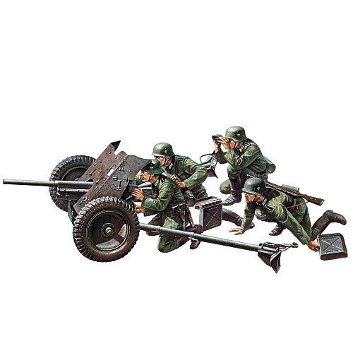 TAMIYA German 37mm Anti-Tank 1:35 Military Model Kit 35035
