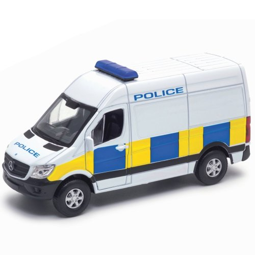 Welly Diecast White Mercedes Benz Police Sprinter Van