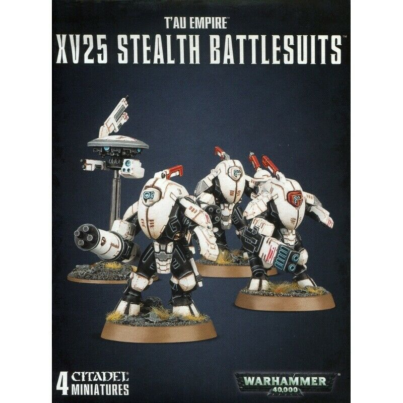 Tau Empire XV25 STEALTH SUITS Battlesuits