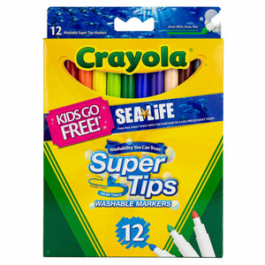 Crayola Super Tips Washable Markers Pack of 12
