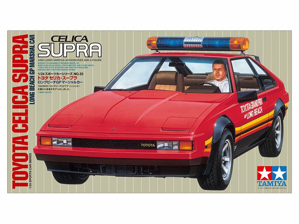 Tamiya 24033 1/24 Toyota Celica Supra Long Beach GP Marshal Model Car Kit