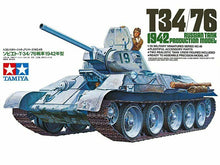 Load image into Gallery viewer, Tamiya 35049 Russian T34/76 Tank 1942 Production Model 1:35 Plastic Model Kit