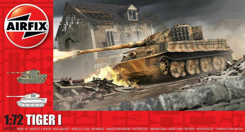 Airfix 1:72 WW2 German Tiger I Tank A02342 Plastic Model Kit