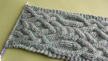 Load image into Gallery viewer, Fancy Celtic Cable Scarf Knitting Pattern (PDF Download)