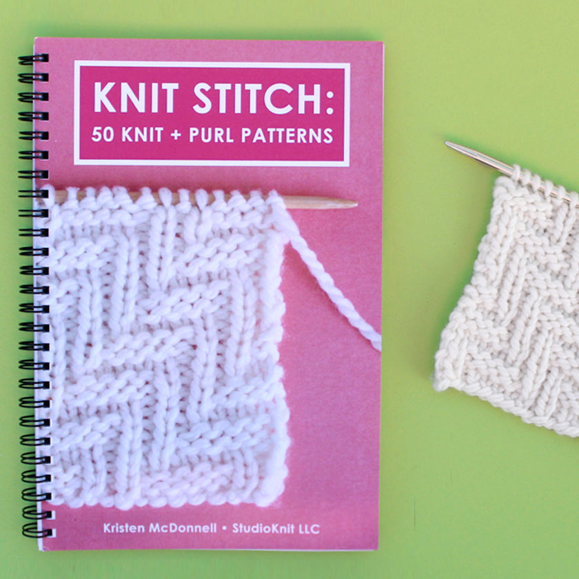 Knit Stitch: 50 Knit + Purl Pattern Book by Kristen McDonnell (Ships USA Only)