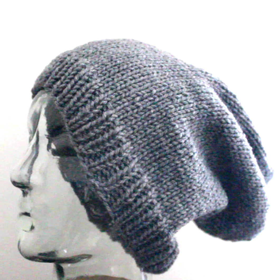 Slouchy Beanie Hat Knitting Pattern (PDF Download)