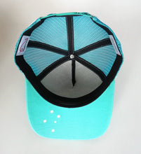 Load image into Gallery viewer, Southern Series Trucker Cap - Turquoise & White