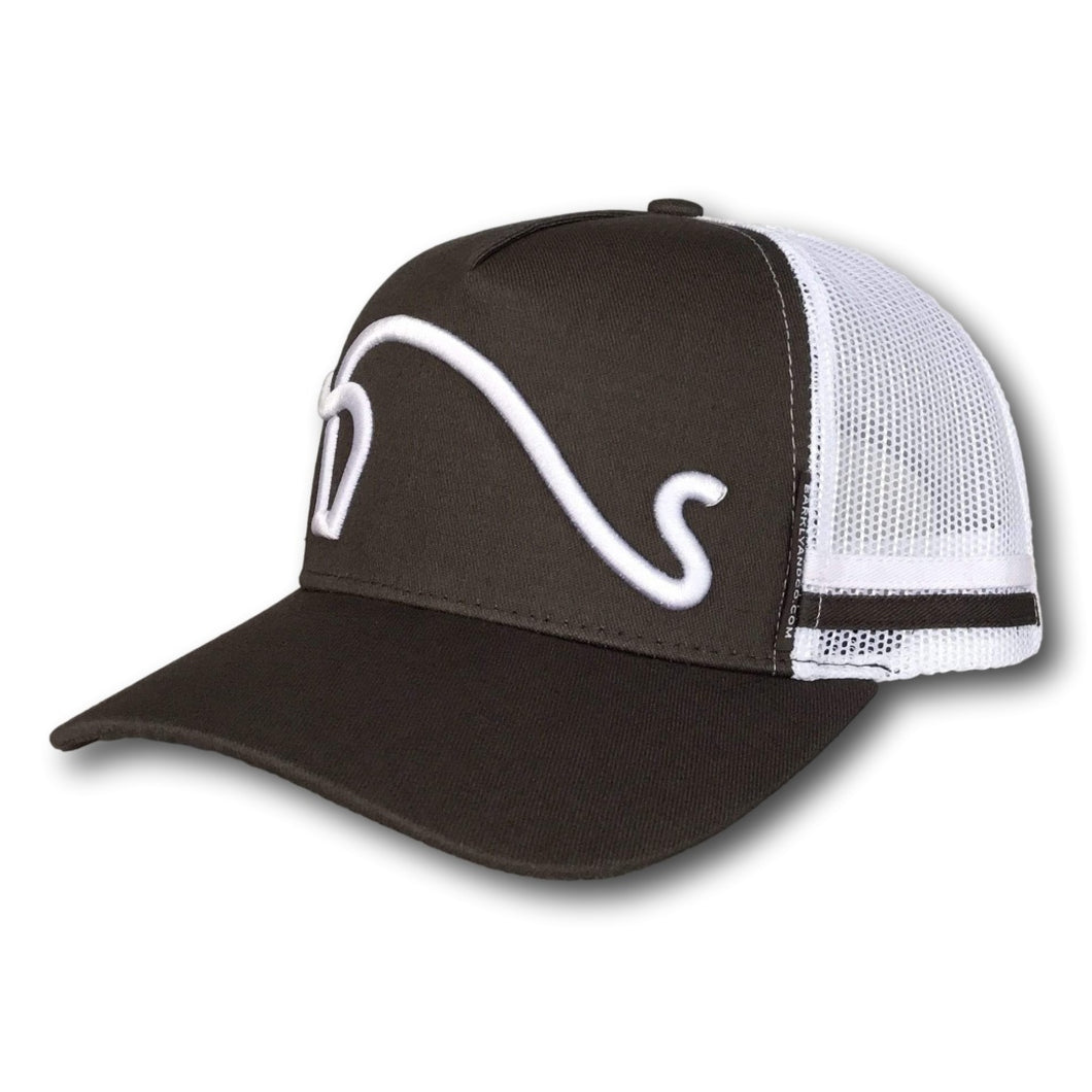 The Classic Trucker Cap - Steel Grey & White