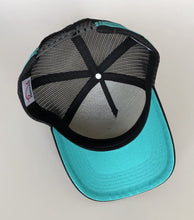 Load image into Gallery viewer, Carpentaria Series Trucker Cap - Black & Teal