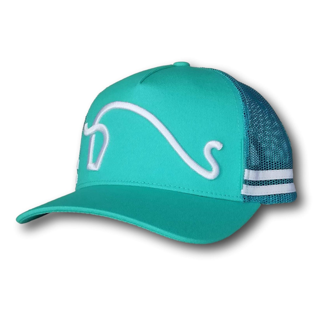 Southern Series Trucker Cap - Turquoise & White