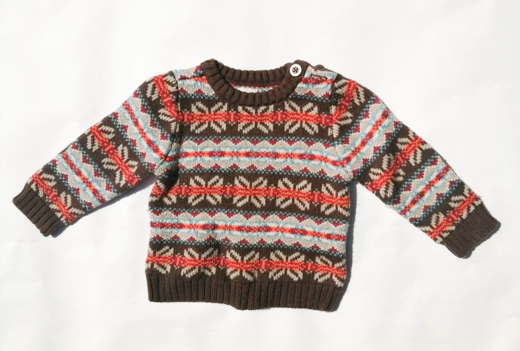 Sweater Old Navy de jacquard (T. 6/12 Meses)