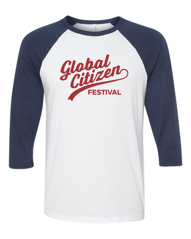 GCF '17 Cursive Baseball Tee - Navy/Red