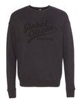 Black on Black Cursive Festival Sweatshirt